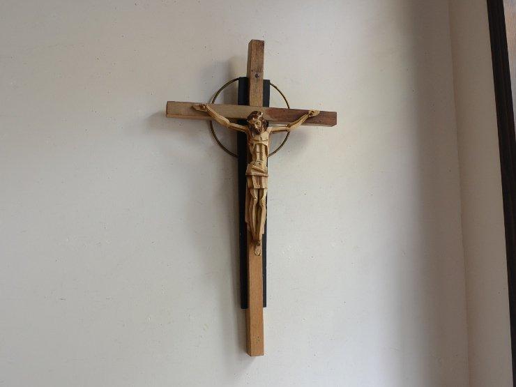 [new] 木製クロス(十字架) ウォールデコレーション(H54cm)