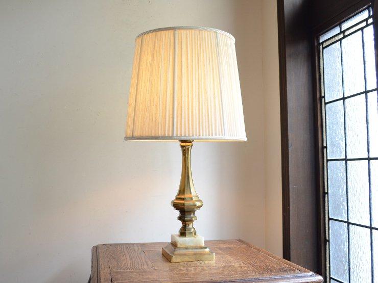 [new] プリーツシェード 真鍮 マーブル テーブルランプ(H50cm)