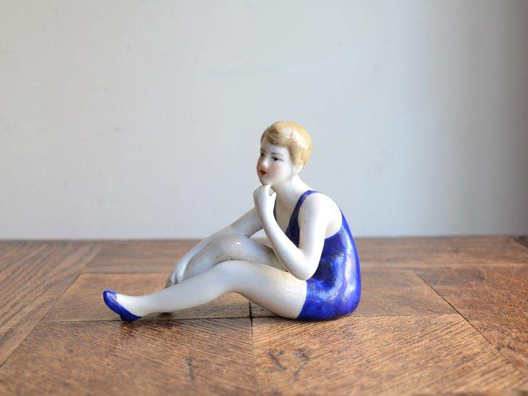 女性モチーフ 陶器オブジェ(スイミング編)