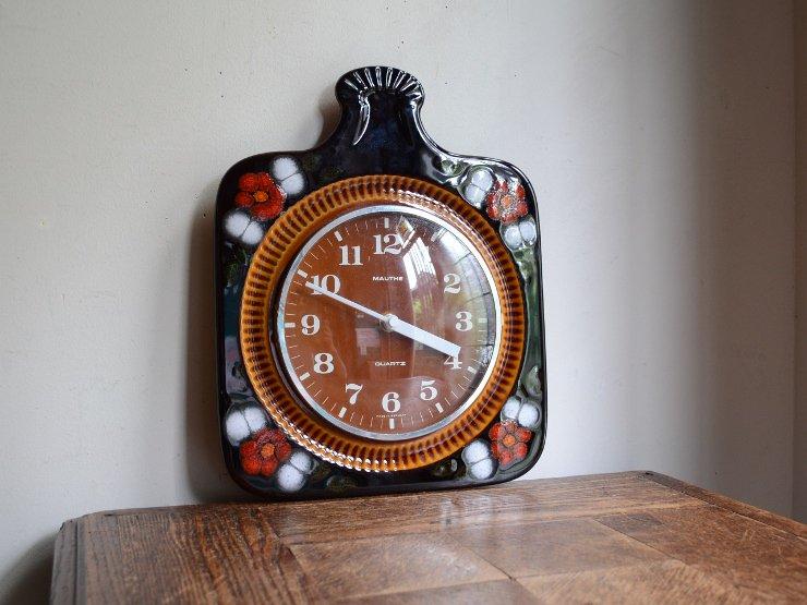 ヴィンテージ 陶器ウォールクロック(掛け時計)
