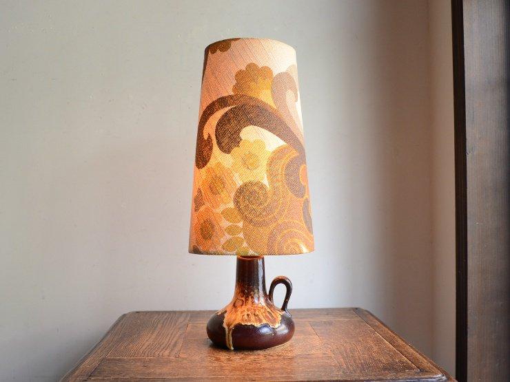 ヴィンテージ 陶器 テーブルランプ (H38cm)