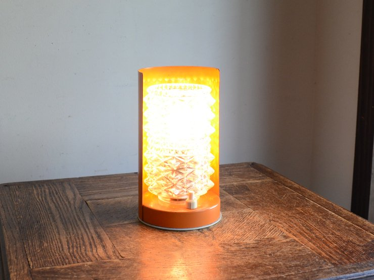 [new] ヴィンテージデザイン カッティングガラステーブルランプ(H17cm)