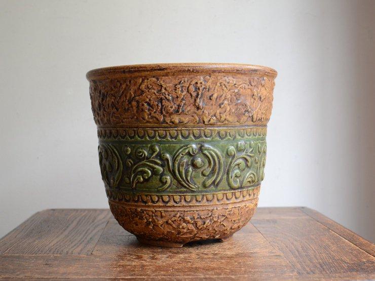 ヴィンテージ 陶器プランターカバー