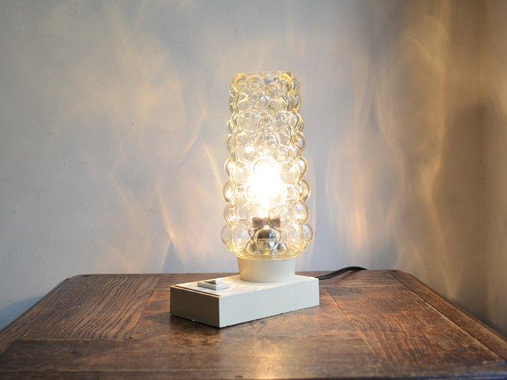 ヴィンテージ ガラスシェード付 テーブルランプ(H22cm)