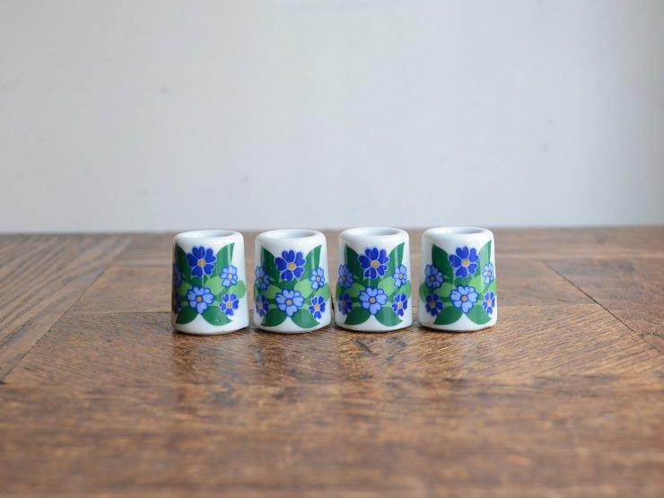 ヴィンテージ 陶器キャンドルスタンドset