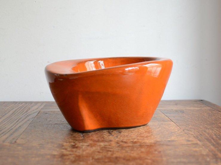 [new] ヴィンテージ 陶器オレンジボウル