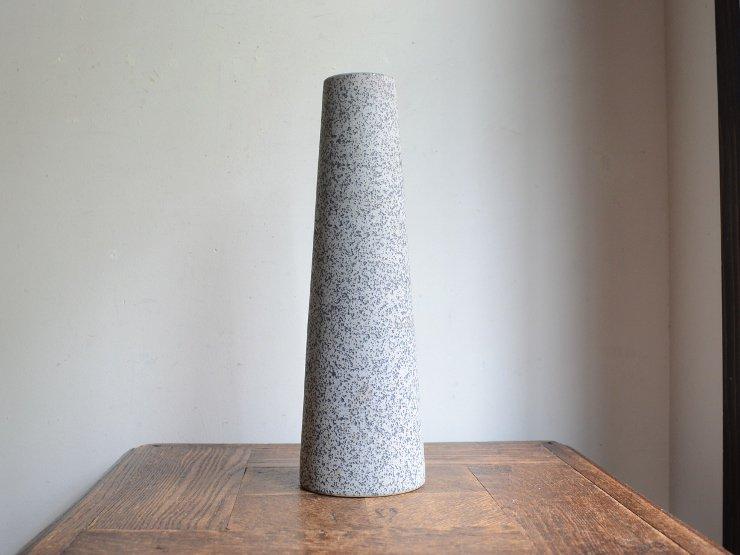 [new] ヴィンテージ 陶器フラワーベース(H31cm)