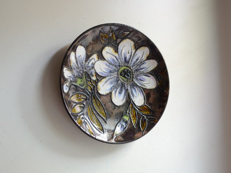 [new] ヴィンテージ 壁掛け陶器プレート