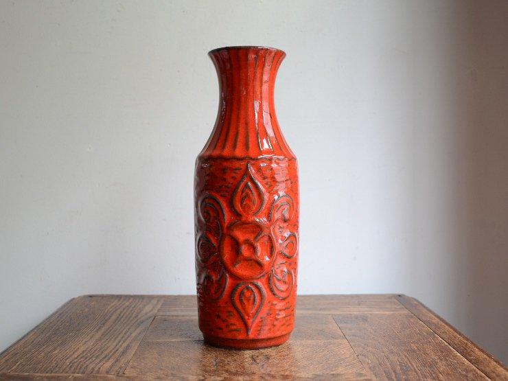 [new] ヴィンテージ 陶器フラワーベース(H25.5cm)