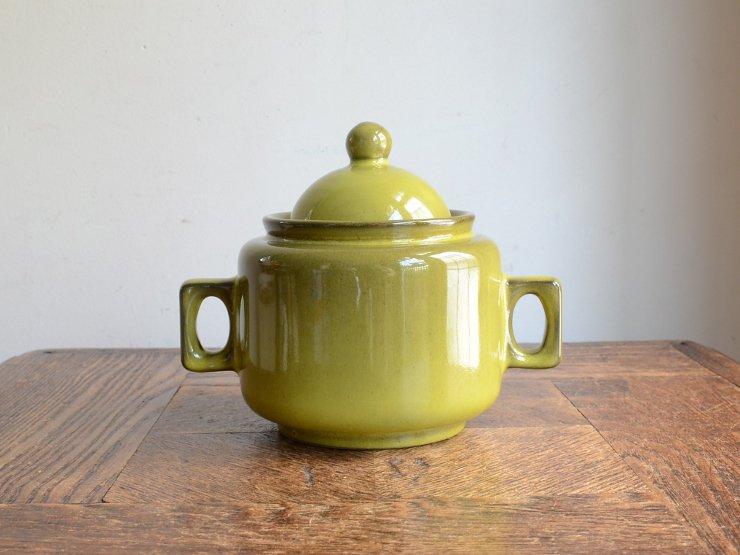 [new] ヴィンテージ 陶器ポット (キャニスター)