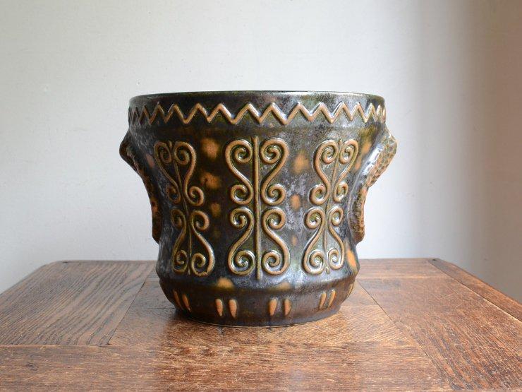 [new] ヴィンテージ 陶器プランターカバー