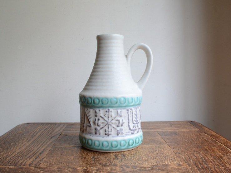 [new] ヴィンテージ 陶器フラワーベース(H17cm)