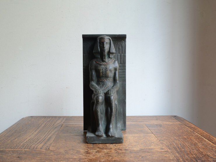 [new] アンティーク 古代エジプトモチーフ ブロンズオブジェ(H19cm)