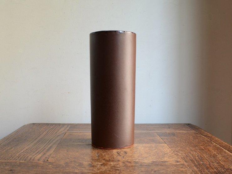 ヴィンテージ 陶器フラワーベース(H18cm)
