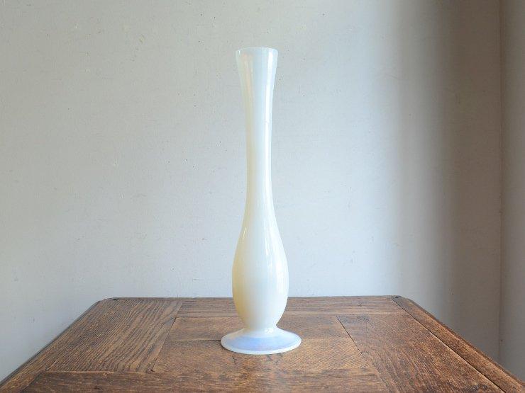 [new] ヴィンテージオパリンガラス フラワーベース(H27.5cm)