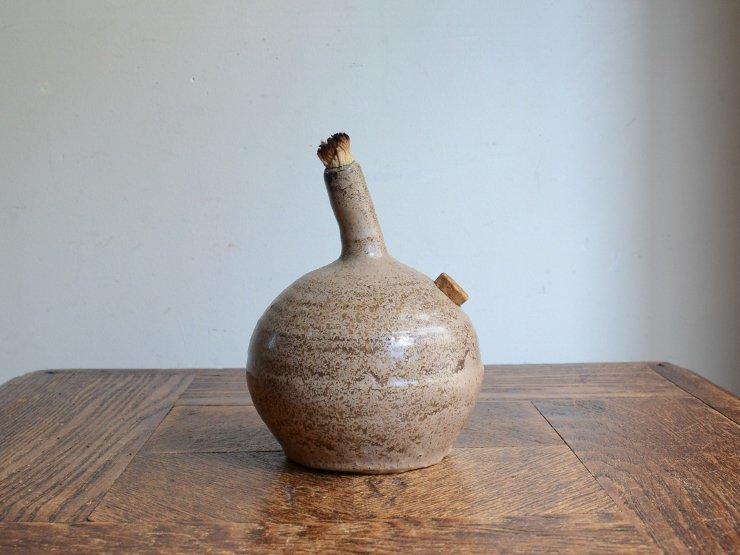 [new] ヴィンテージ 陶器オイルランプ