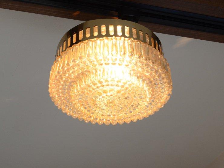 [new] ヴィンテージ デザインガラス ランプ(天井照明)※直付専用