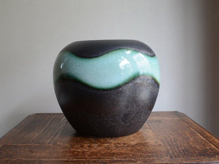 [new] ヴィンテージ 陶器フラワーベース(H18cm)