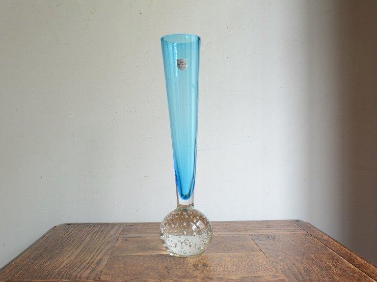 [new] ヴィンテージ ガラス フラワーベース (H25.5cm)