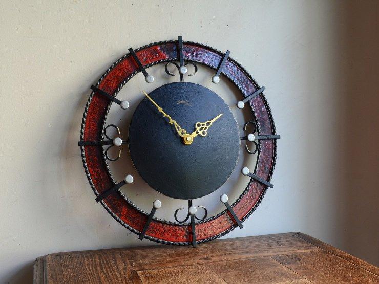 [new] ヴィンテージ アイアン ウォールクロック(壁掛け時計)