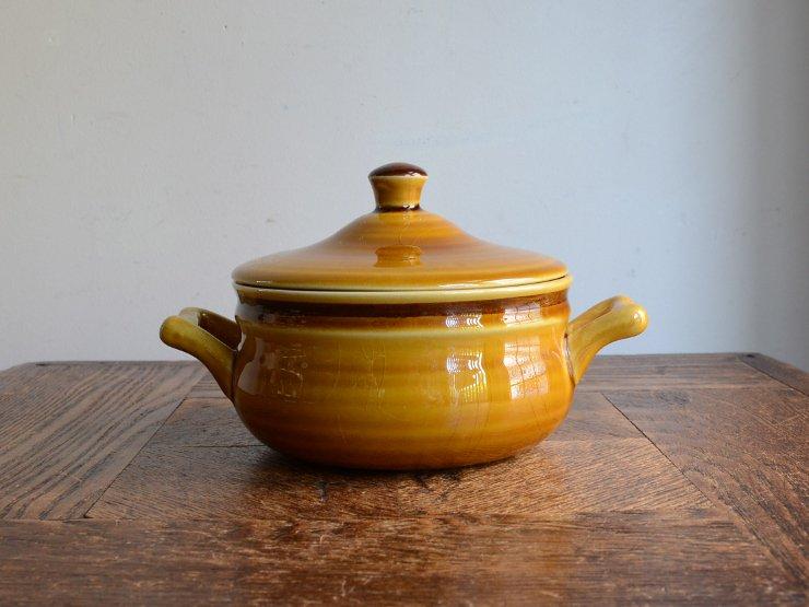 ヴィンテージ 陶器ポット (キャニスター)