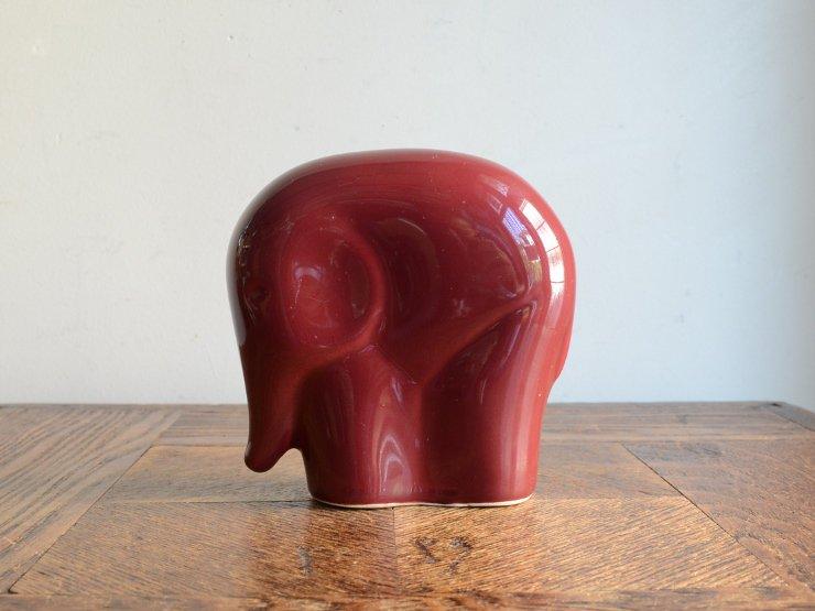 ヴィンテージ ゾウさん 陶器オブジェ