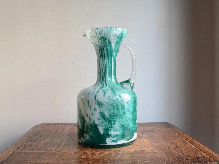 [new] ヴィンテージ マーブルガラス フラワーベース (H24.5cm)