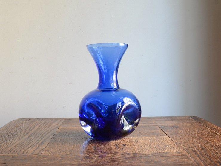 [new] ヴィンテージ ガラス フラワーベース (H14.5cm)