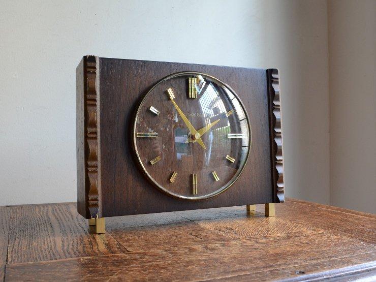 [new] ヴィンテージ 木製テーブルクロック(置時計)