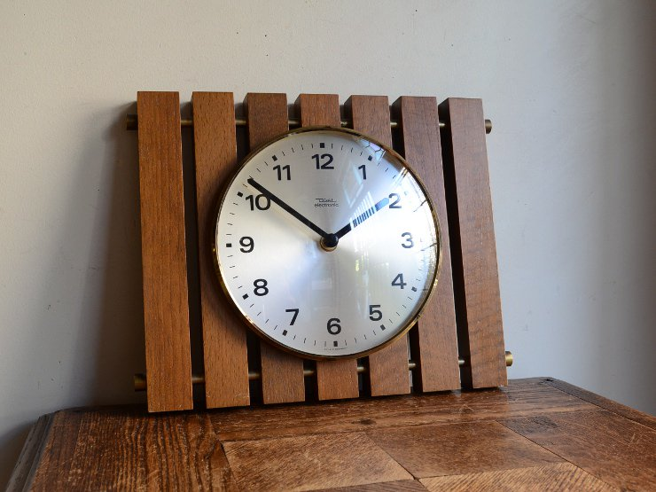 [new] ヴィンテージ 木製ウォールクロック(掛け時計)