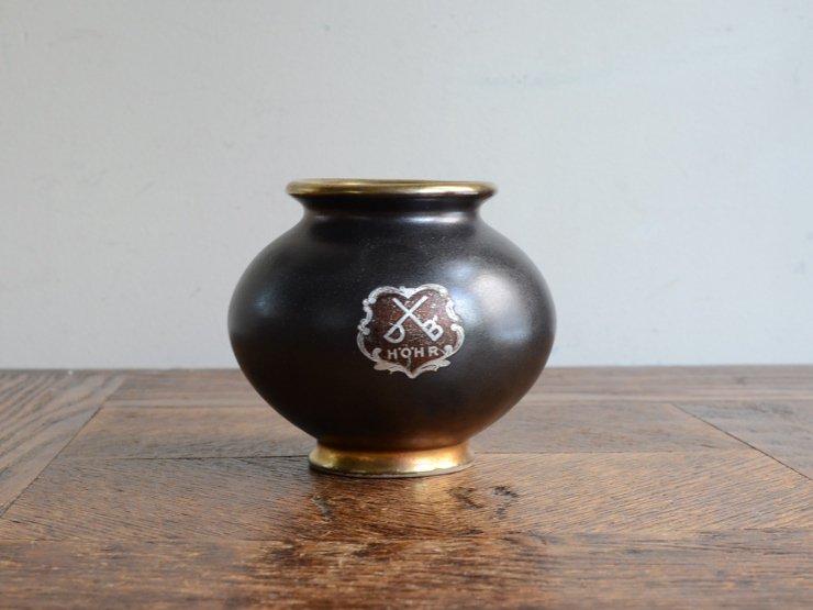 [new] ヴィンテージ 陶器フラワーベース(H7cm)