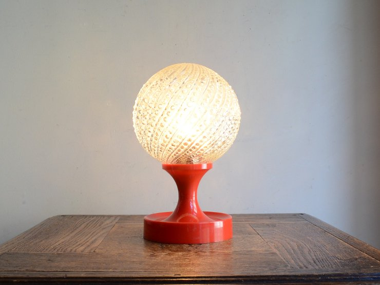 [new] ヴィンテージ デザインガラス テーブルランプ (H20.5cm)