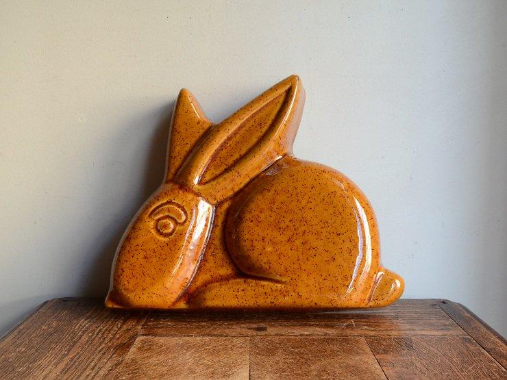 [new] ヴィンテージ ウサギ型 陶器モールド