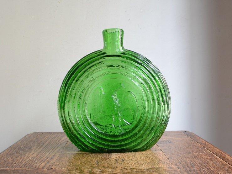 [new] ヴィンテージ ガラス フラワーベース (H22cm)
