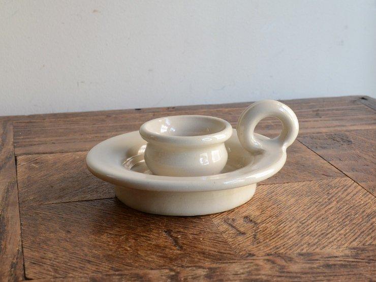 ヴィンテージ 陶器キャンドルスタンド