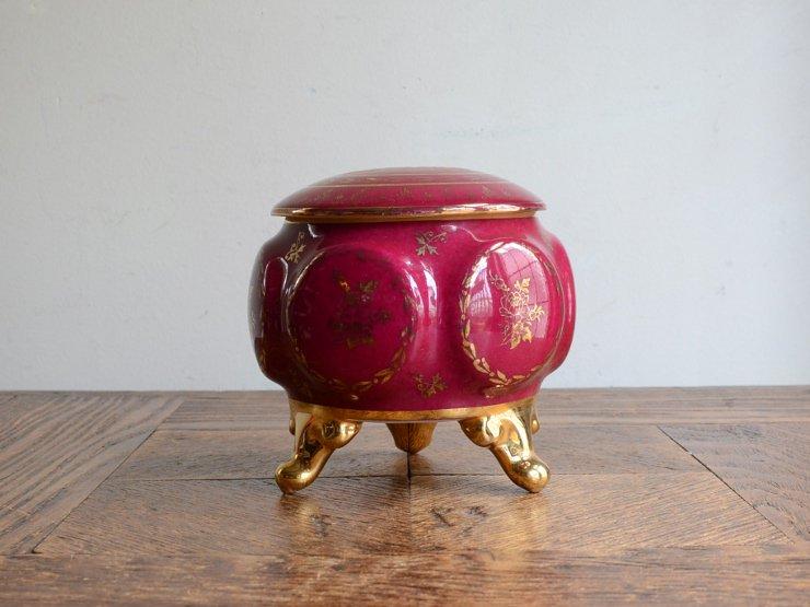 [new] ヴィンテージ 陶器 ポット (小物入れ)