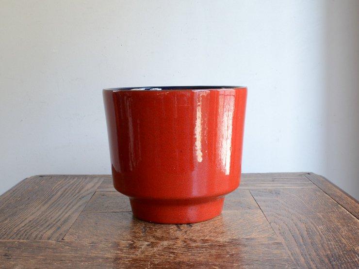 [new] ヴィンテージ 陶器プランターカバー (H12.5cm)