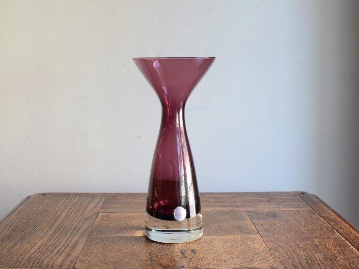 [new] ヴィンテージ ガラス フラワーベース (H18.5cm)