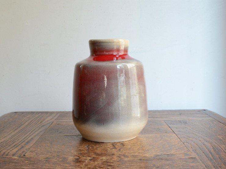 [new] ヴィンテージ 陶器フラワーベース(H13cm)