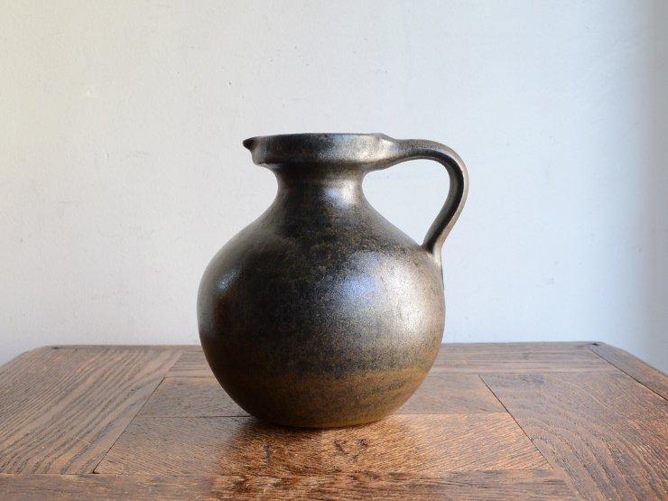 [new] ヴィンテージ 陶器フラワーベース(H13.5cm)