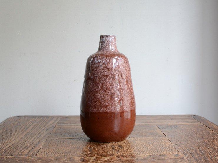 [new] ヴィンテージ 陶器フラワーベース(H16cm)