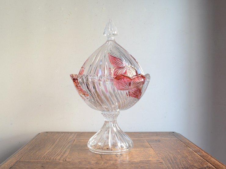 [new] ヴィンテージカッティングガラス キャニスター(H29cm)