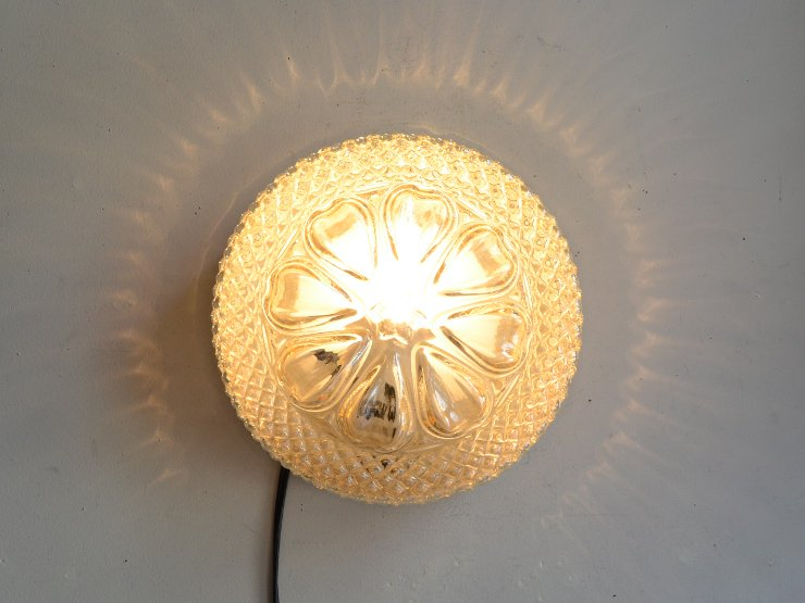 ヴィンテージ デザインガラス ライト