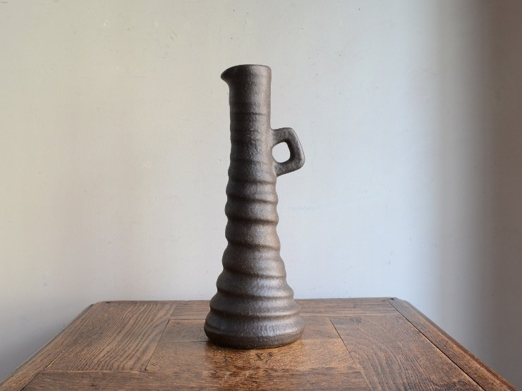 [new] ヴィンテージ 陶器フラワーベース(H27cm)