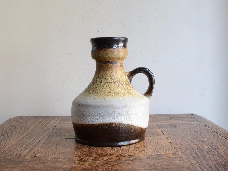 [new] ヴィンテージ 陶器フラワーベース(H15cm)A