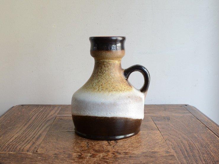 [new] ヴィンテージ 陶器フラワーベース(H15cm)B