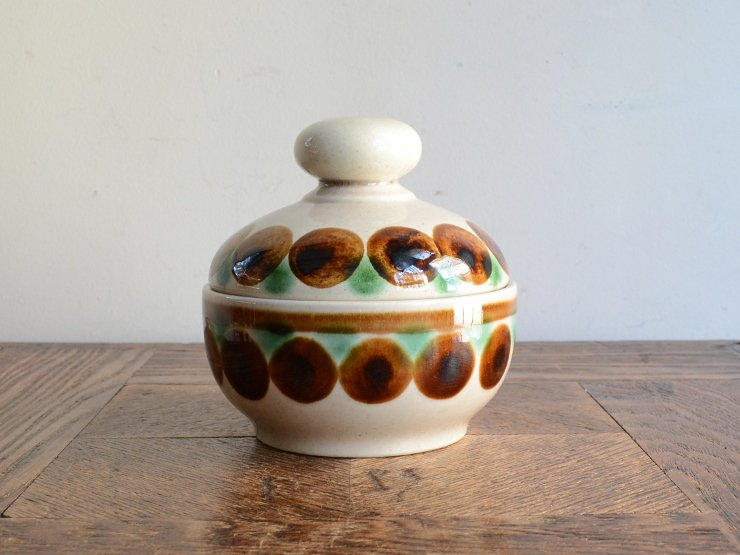 [new] ヴィンテージ 陶器シュガーポット