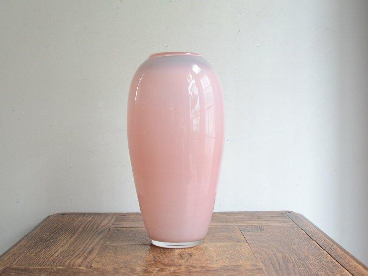 [new] ヴィンテージ オパリンガラス フラワーベース(H23.5cm)