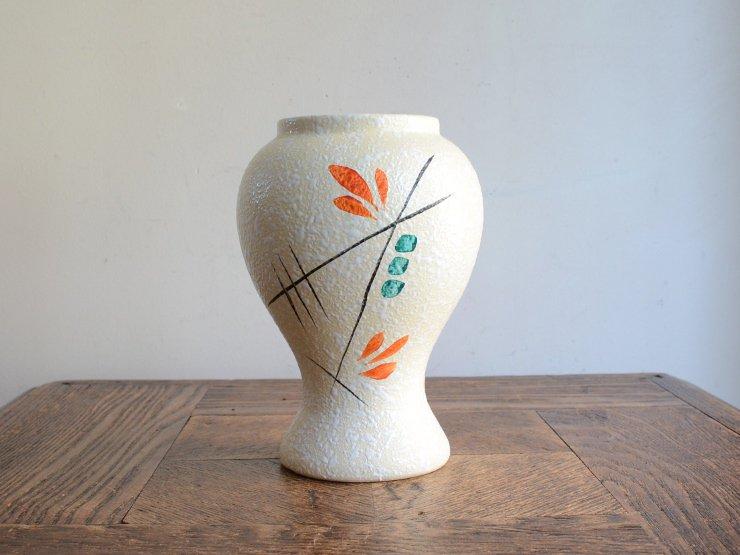 ヴィンテージ 陶器フラワーベース(H14cm)