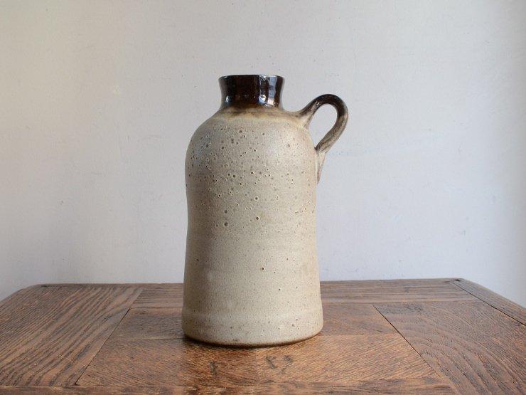 ヴィンテージ 陶器フラワーベース(H16cm)